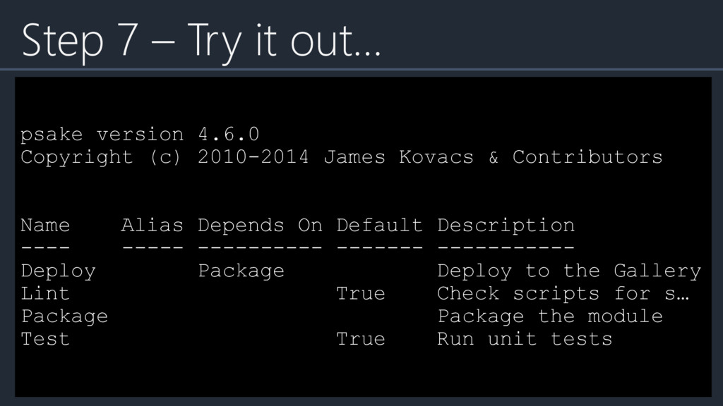 psake version 4.6.0 Copyright (c) 2010-2014 Jam...