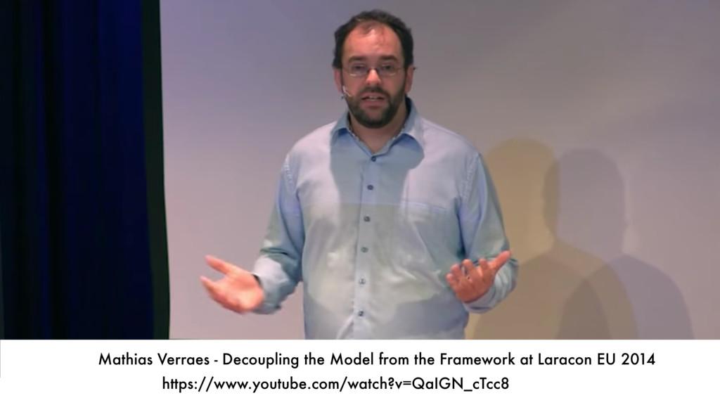 Mathias Verraes - Decoupling the Model from the...