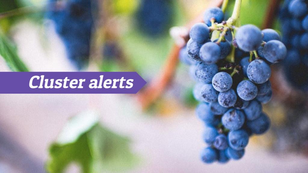 Cluster alerts