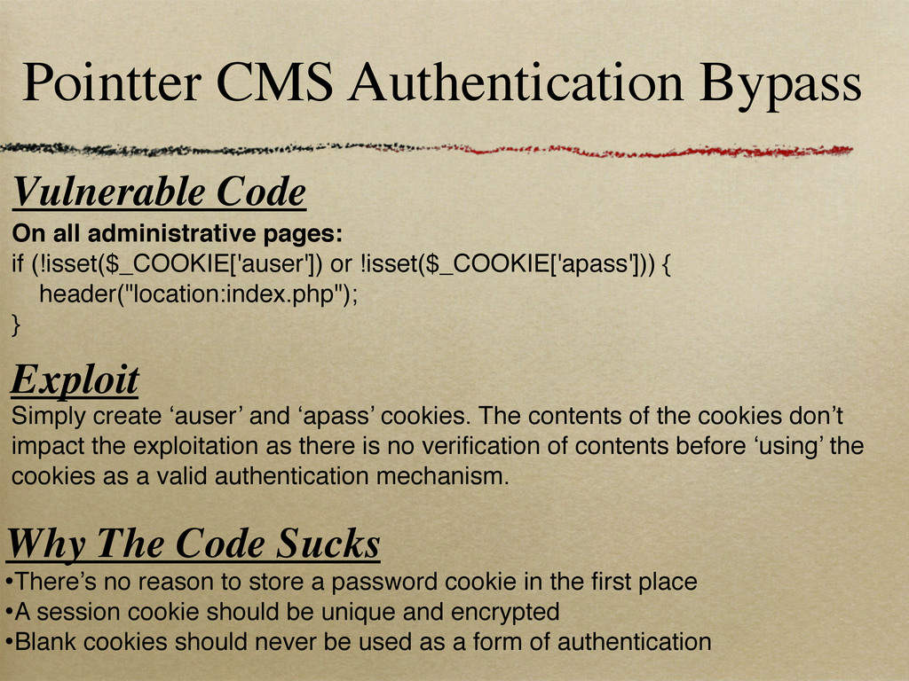 Pointter CMS Authentication Bypass Vulnerable C...