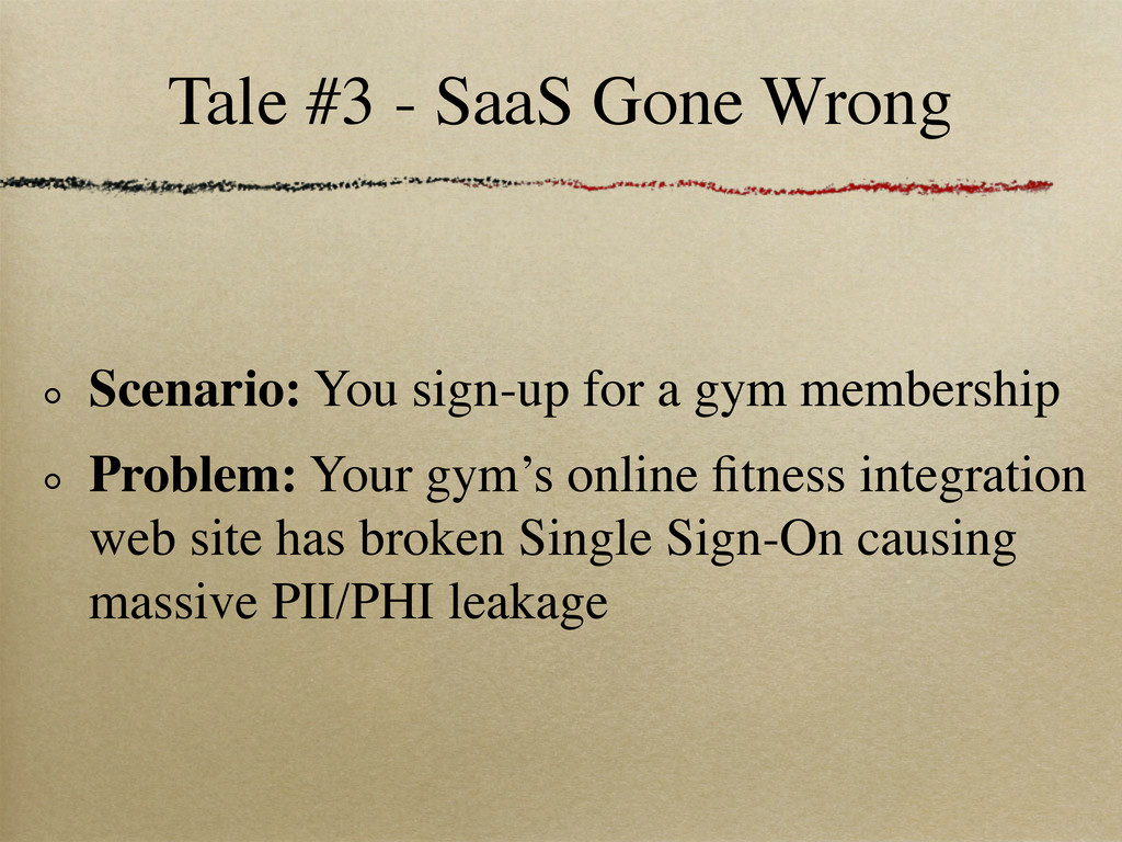 Tale #3 - SaaS Gone Wrong Scenario: You sign-up...