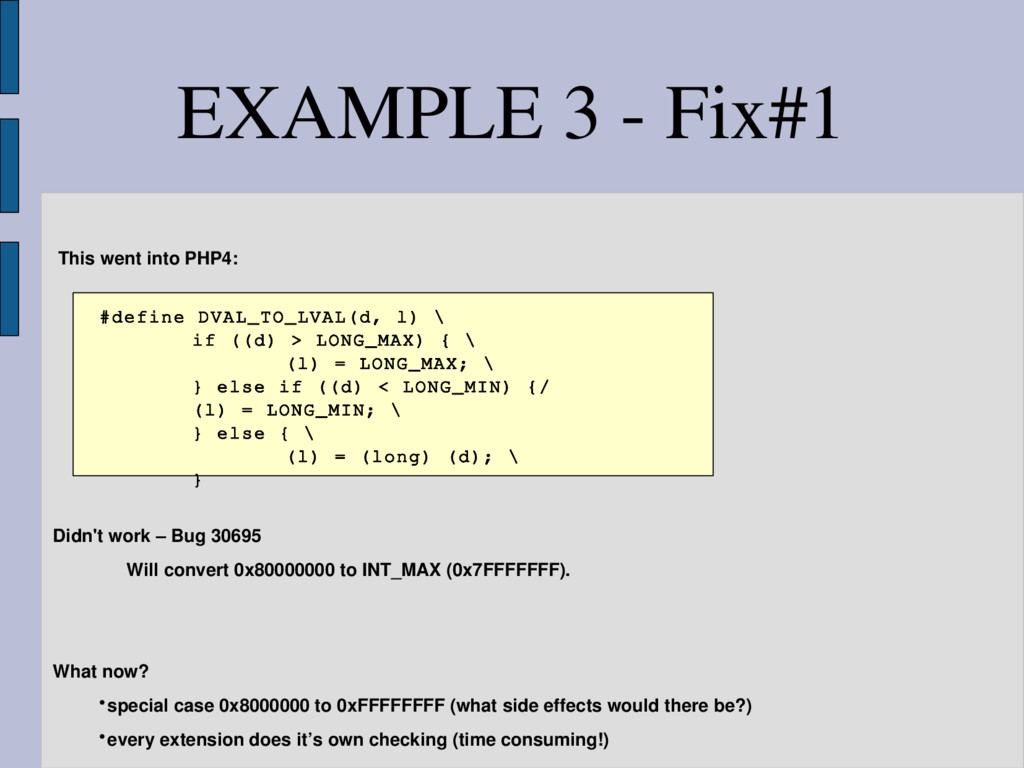 This went into PHP4: #define DVAL_TO_LVAL(d, l)...