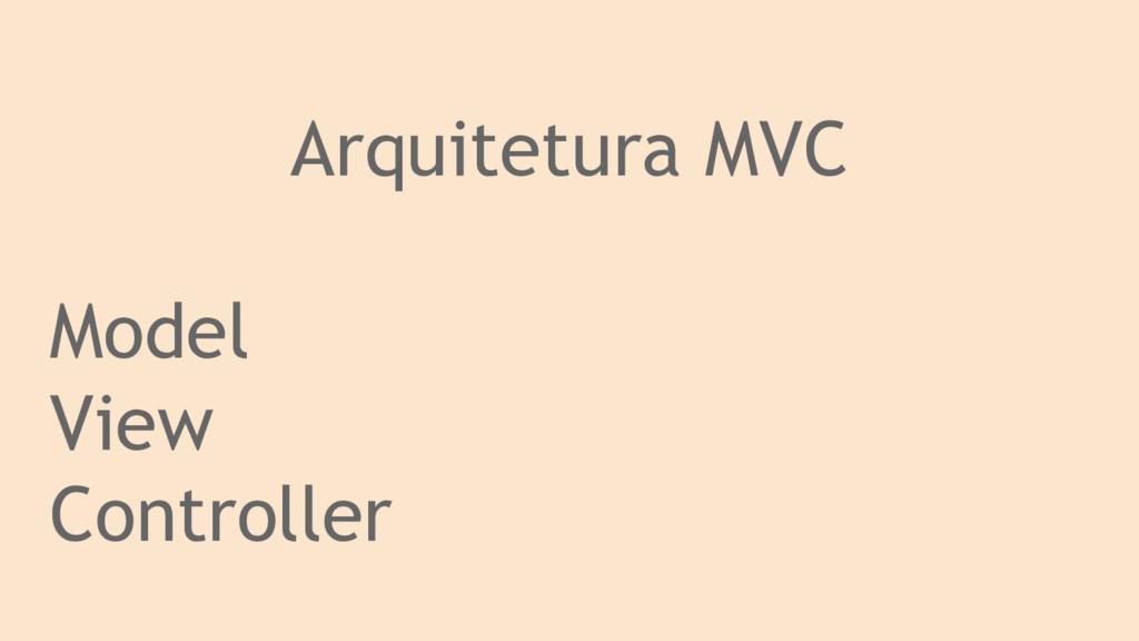 Arquitetura MVC Model View Controller