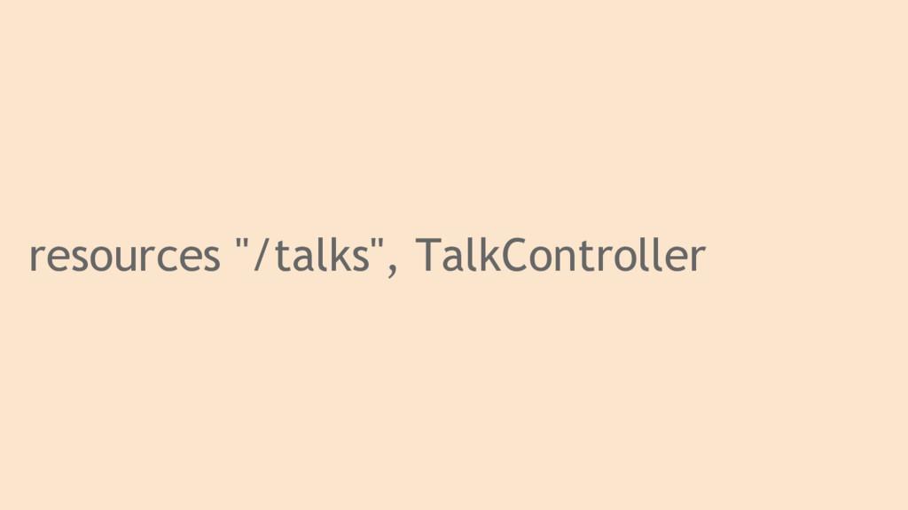 "resources ""/talks"", TalkController"