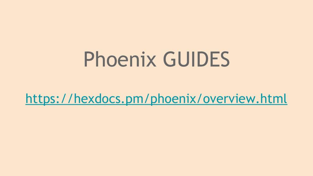 Phoenix GUIDES https://hexdocs.pm/phoenix/overv...