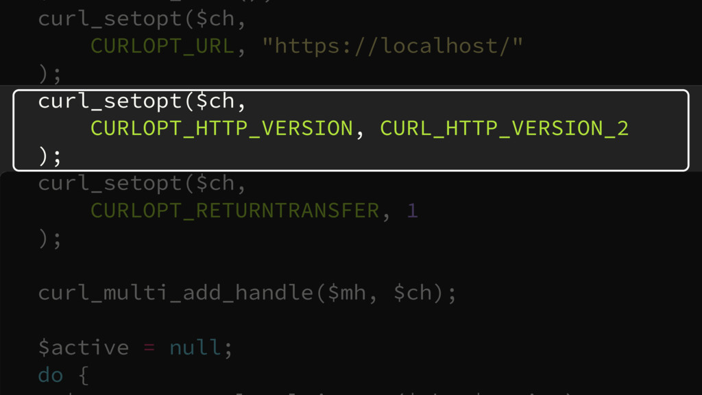 """curl_setopt($ch,  CURLOPT_URL, """"https://localh..."""