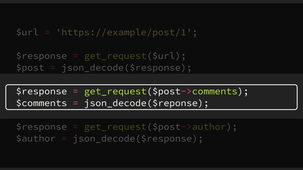 $url = 'https://example/post/1'; $response = ge...
