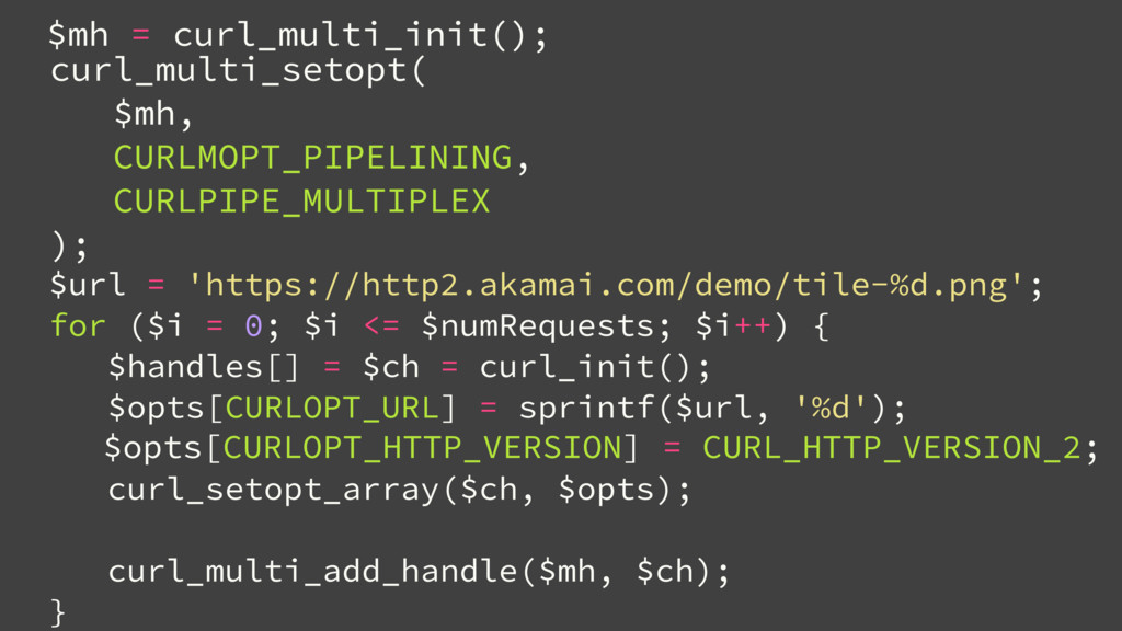 $opts[CURLOPT_HTTP_VERSION] = CURL_HTTP_VERSION...