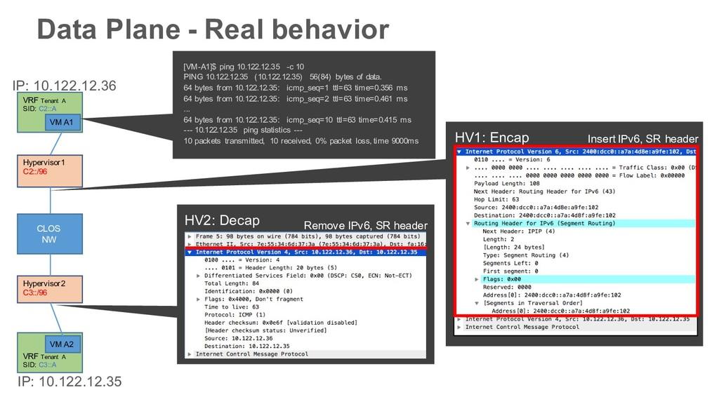 Data Plane - Real behavior Hypervisor1 C2::/96 ...