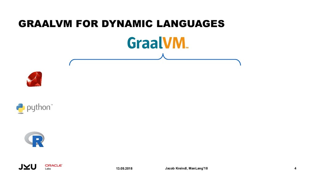 GRAALVM FOR DYNAMIC LANGUAGES 13.09.2018 Jacob ...