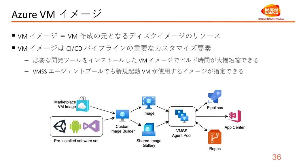 Azure VM イメージ § VM イメージ = VM 作成の元となるディスクイメージのリソ...