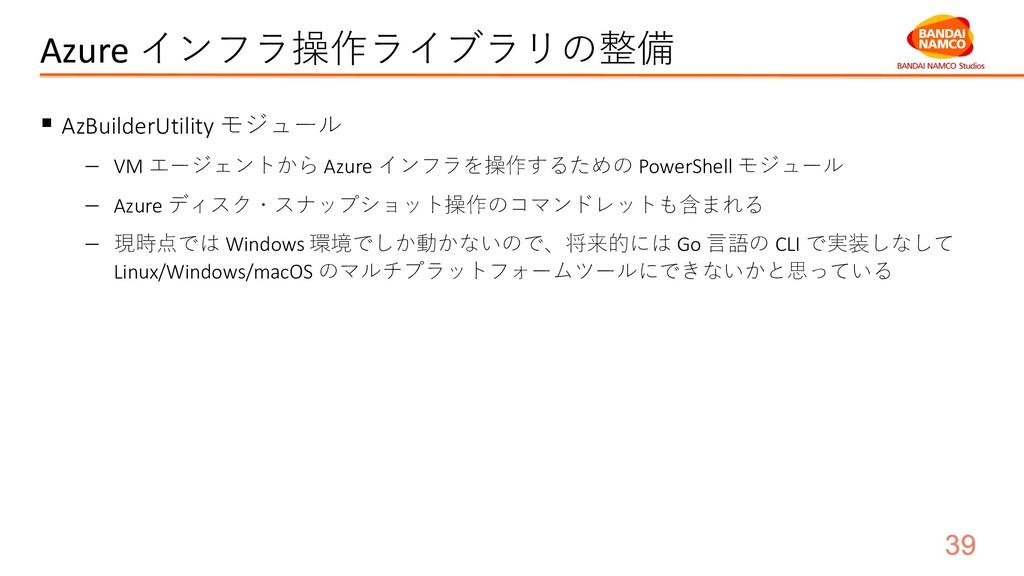 Azure インフラ操作ライブラリの整備 § AzBuilderUtility モジュール -...
