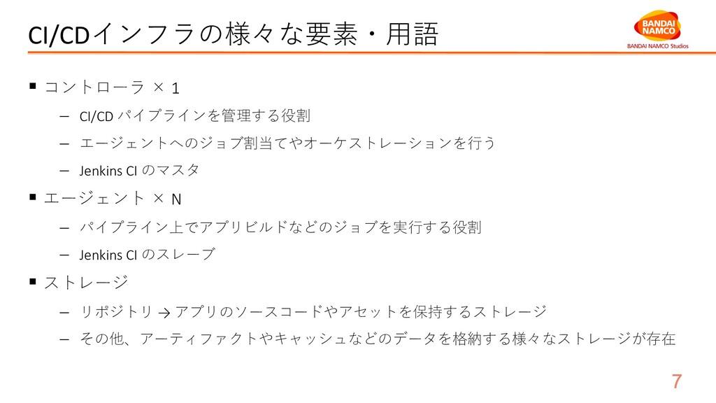 CI/CDインフラの様々な要素・⽤語 § コントローラ × 1 - CI/CD パイプラインを...