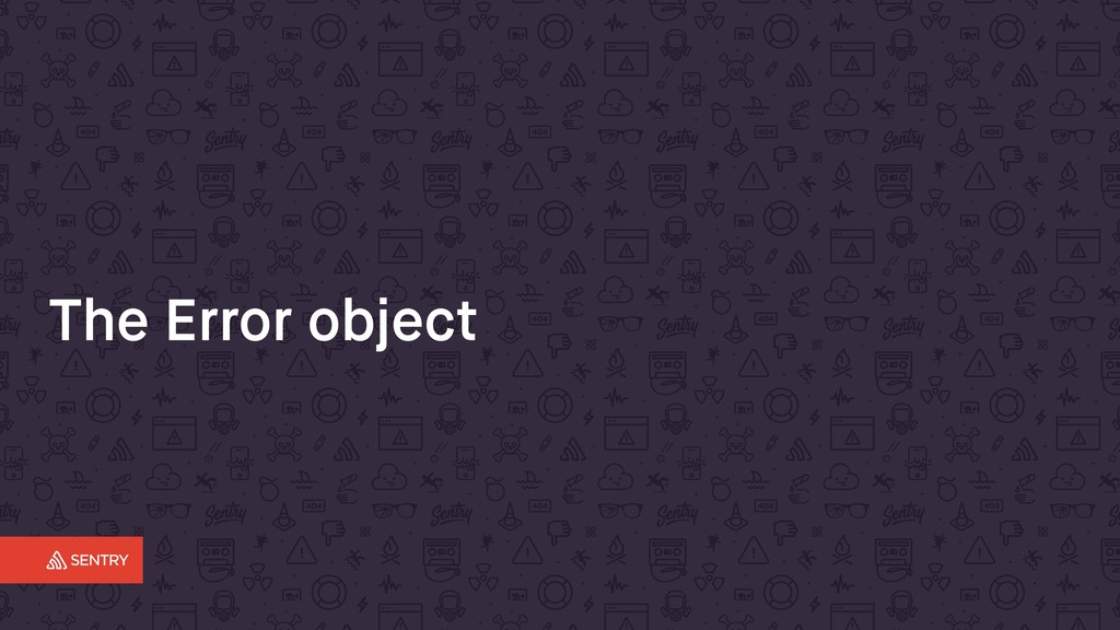 The Error object