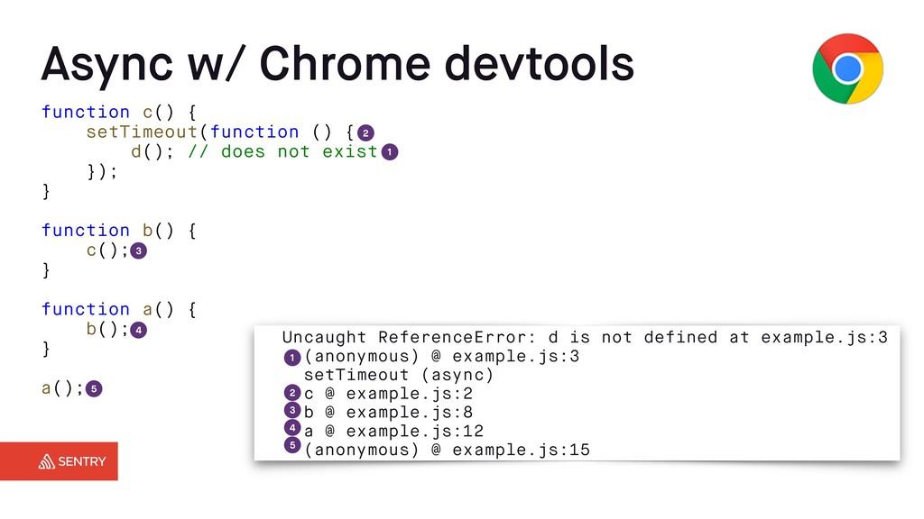 Async w/ Chrome devtools Uncaught ReferenceErro...
