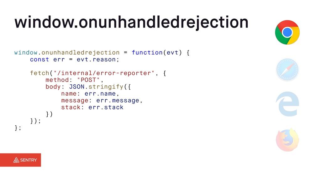 window.onunhandledrejection = function(evt) { c...