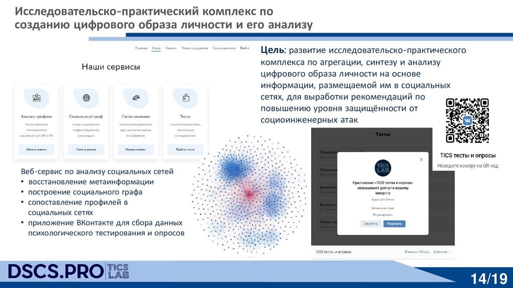 14/19 Веб-сервис по анализу социальных сетей • ...