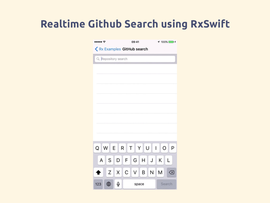 Realtime Github Search using RxSwift