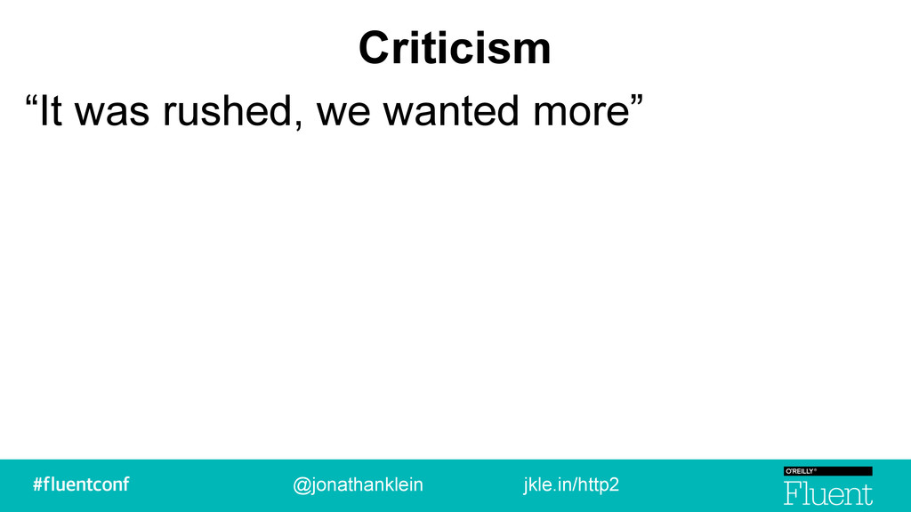 "Criticism ""It was rushed, we wanted more"" @jona..."