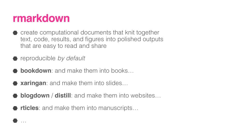 rmarkdown create computational documents that k...