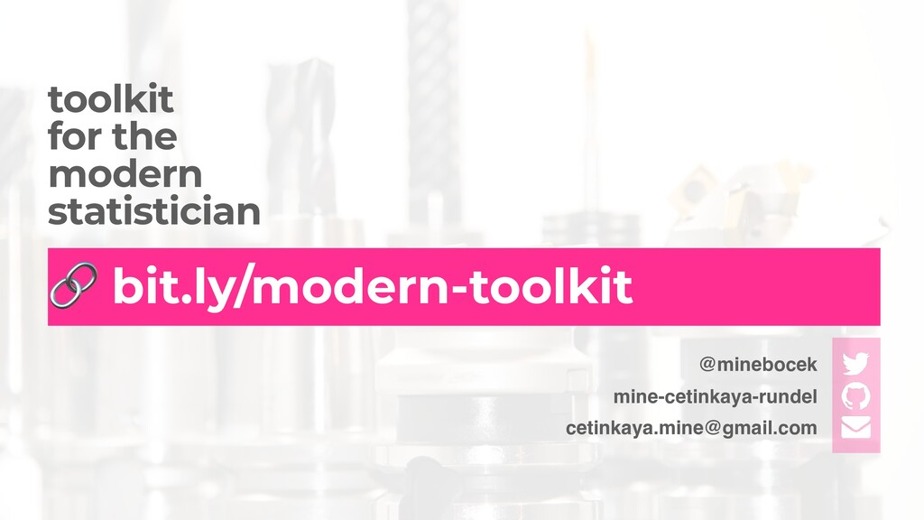 toolkit   for the   modern   statistician 🔗 bit...