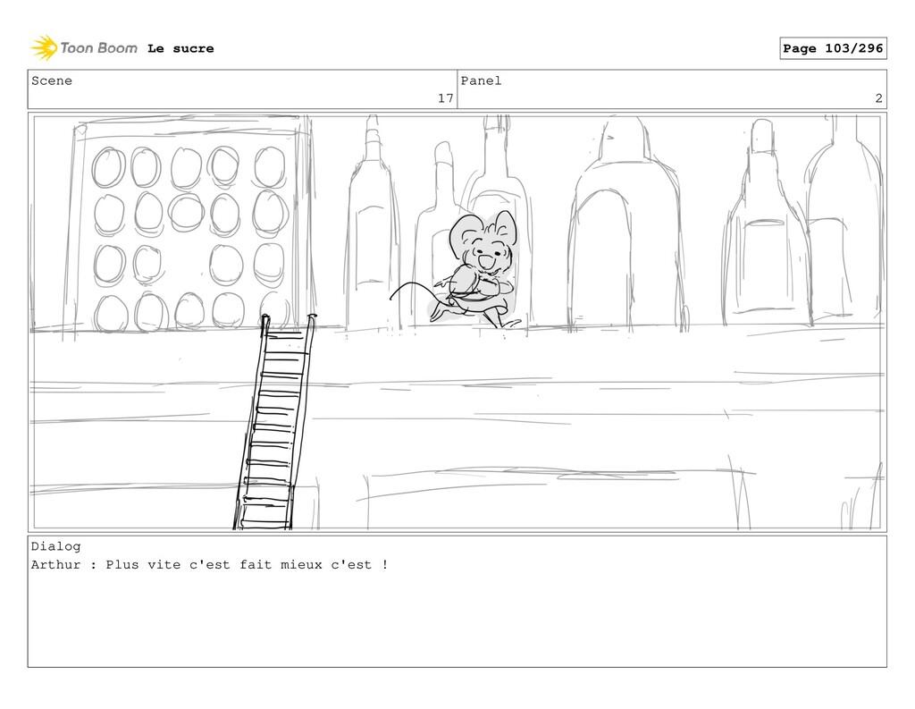 Scene 17 Panel 2 Dialog Arthur : Plus vite c'es...