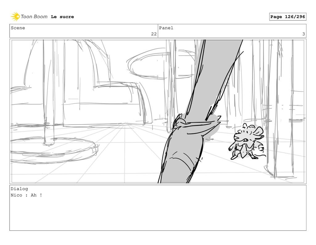 Scene 22 Panel 3 Dialog Nico : Ah ! Le sucre Pa...