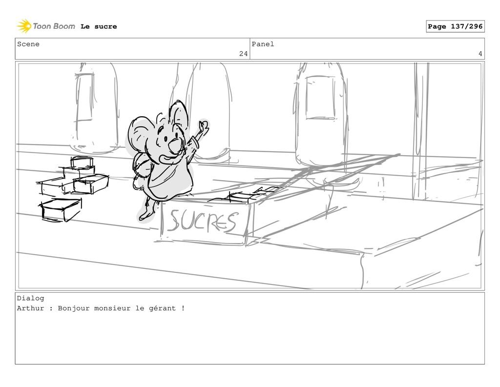 Scene 24 Panel 4 Dialog Arthur : Bonjour monsie...