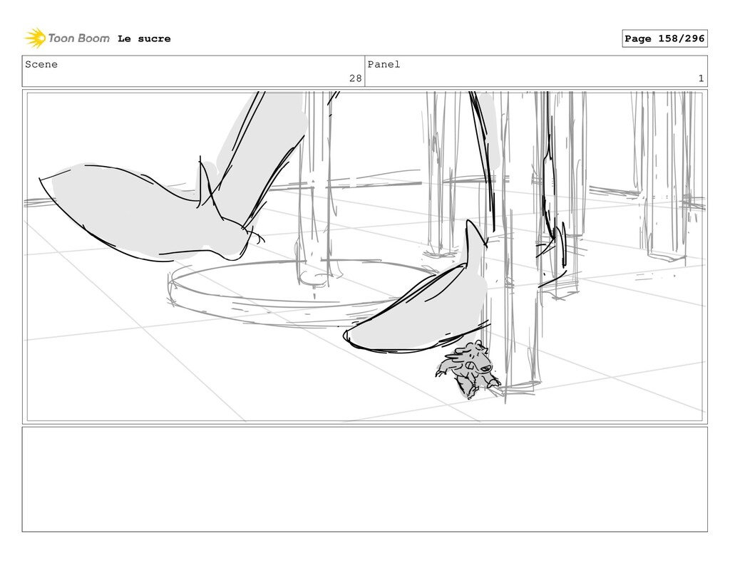 Scene 28 Panel 1 Le sucre Page 158/296
