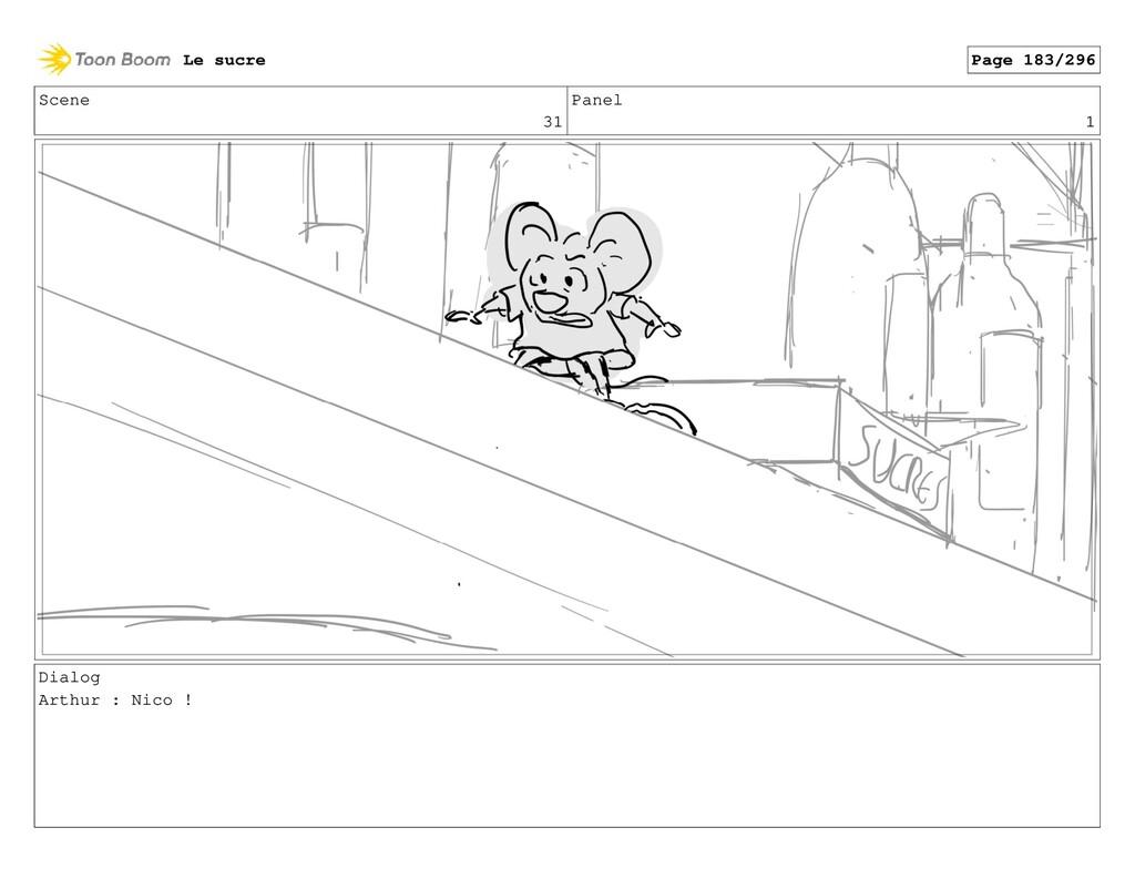 Scene 31 Panel 1 Dialog Arthur : Nico ! Le sucr...