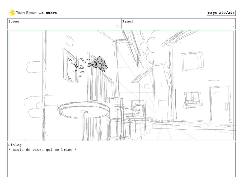 Scene 56 Panel 2 Dialog * Bruit de vitre qui se...