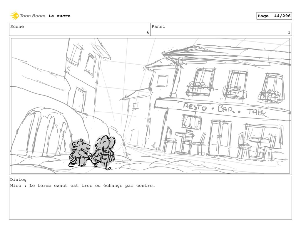 Scene 6 Panel 1 Dialog Nico : Le terme exact es...