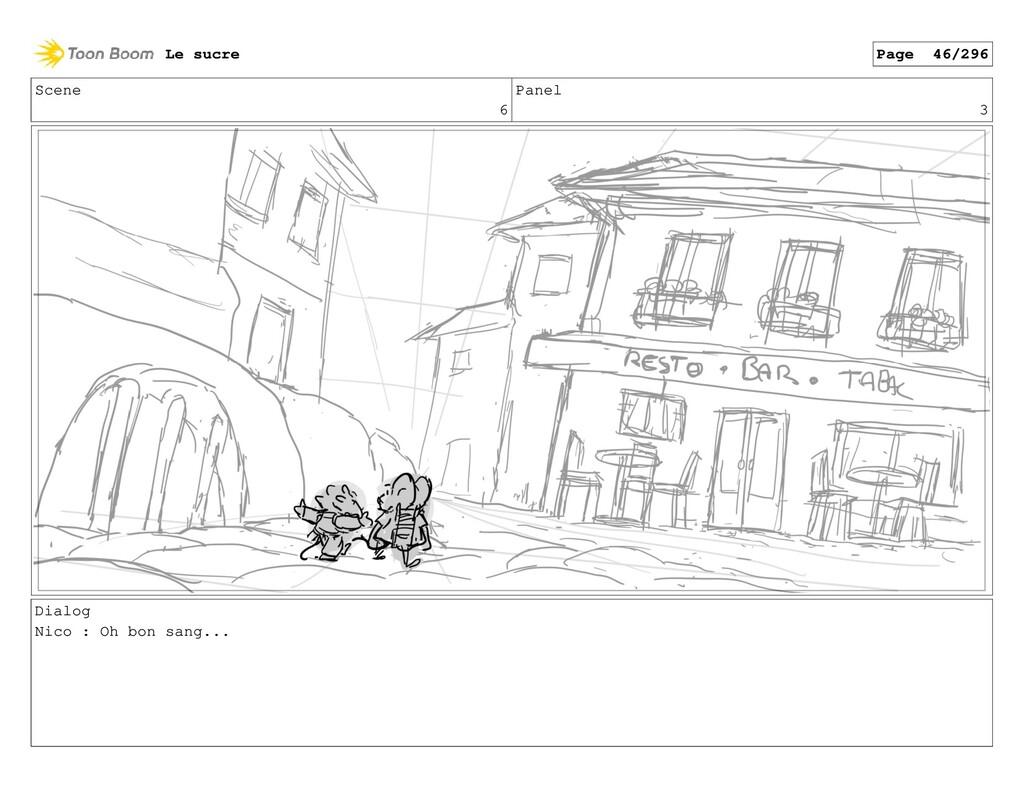 Scene 6 Panel 3 Dialog Nico : Oh bon sang... Le...