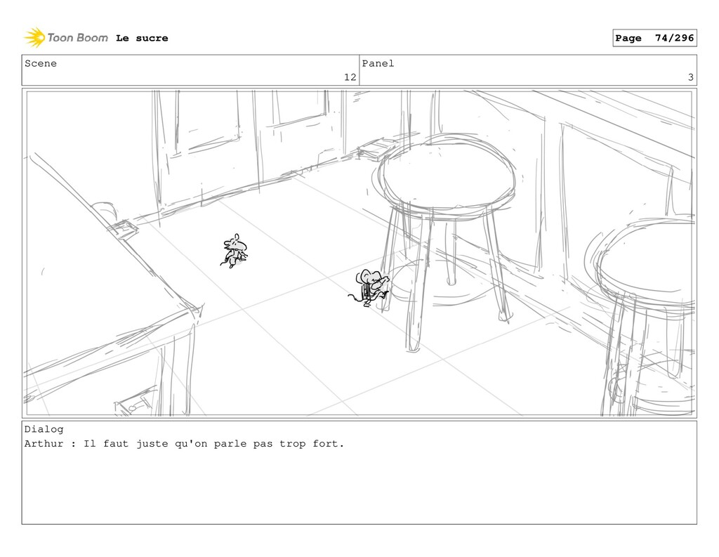Scene 12 Panel 3 Dialog Arthur : Il faut juste ...