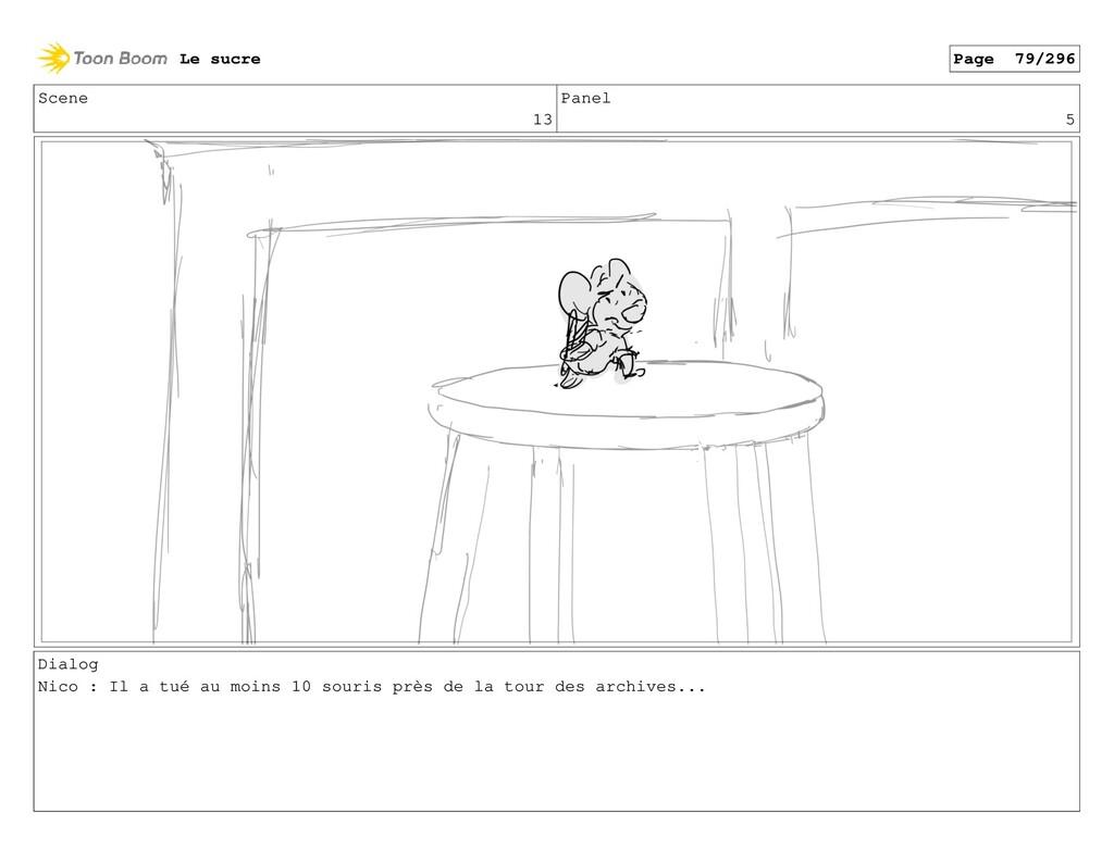 Scene 13 Panel 5 Dialog Nico : Il a tué au moin...