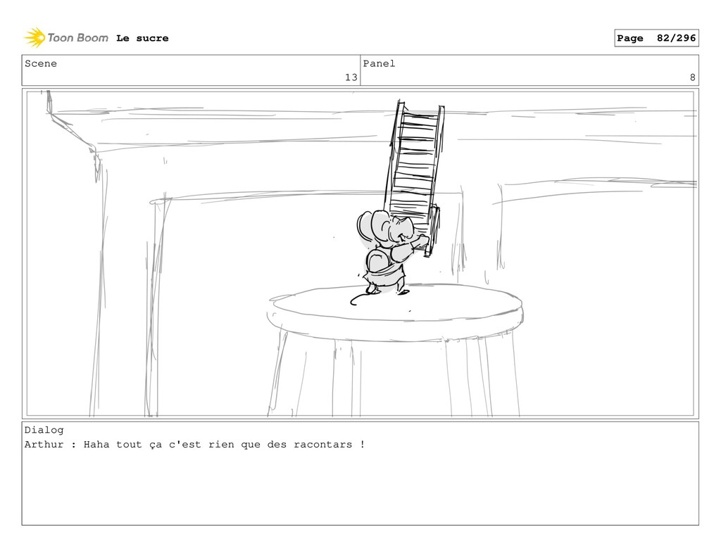 Scene 13 Panel 8 Dialog Arthur : Haha tout ça c...