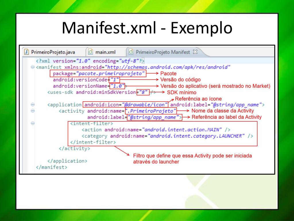 Manifest.xml - Exemplo