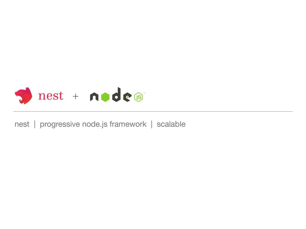 nest   progressive node.js framework   scalable...