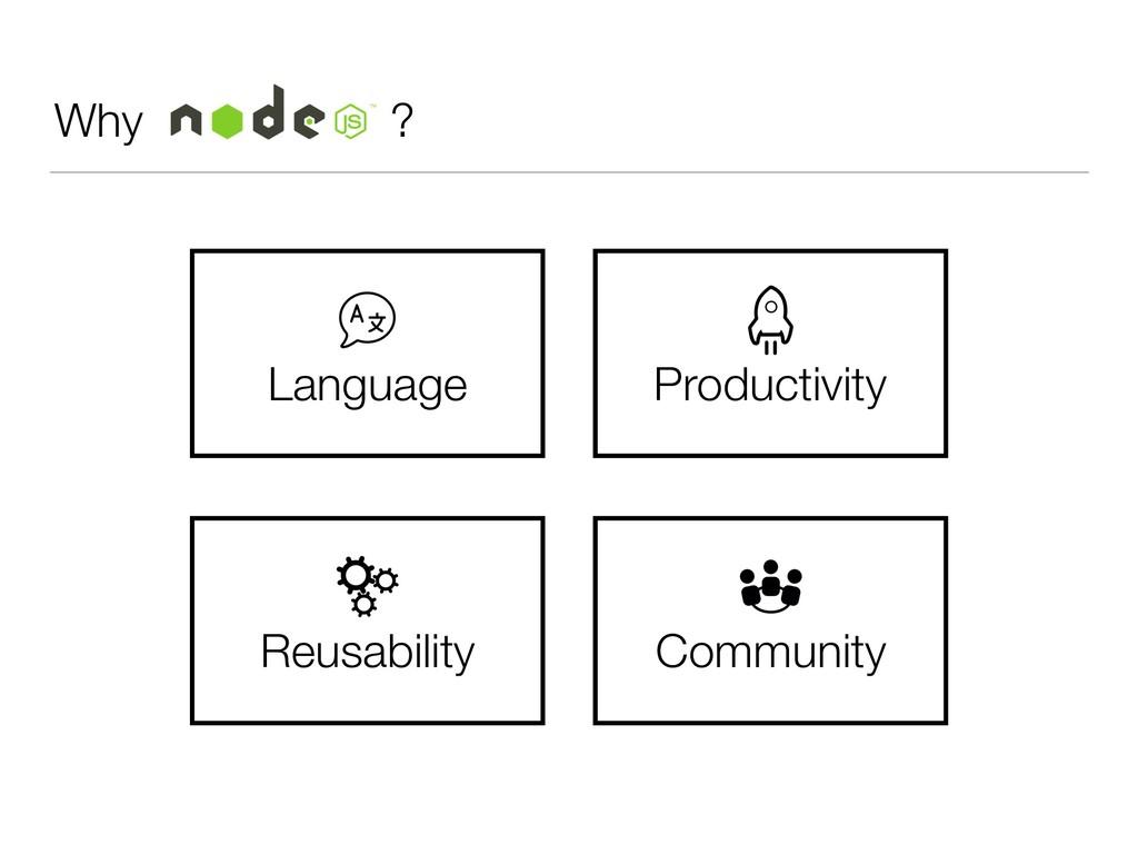Why ? Language Reusability Productivity Communi...