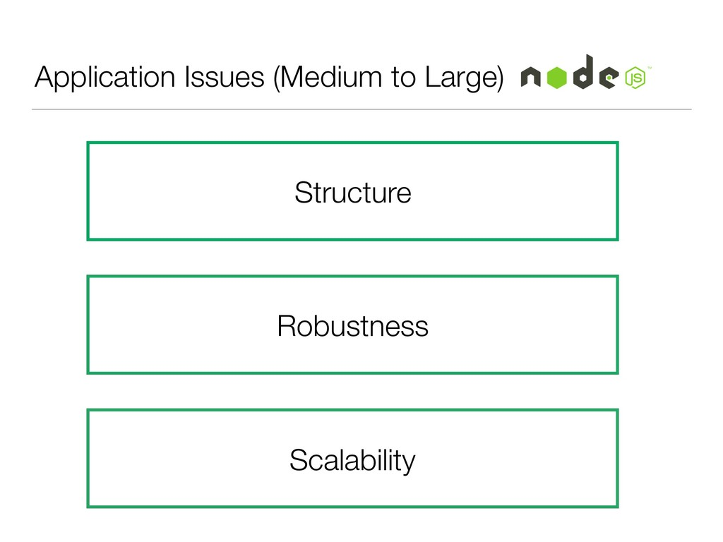 Application Issues (Medium to Large) Lack of co...