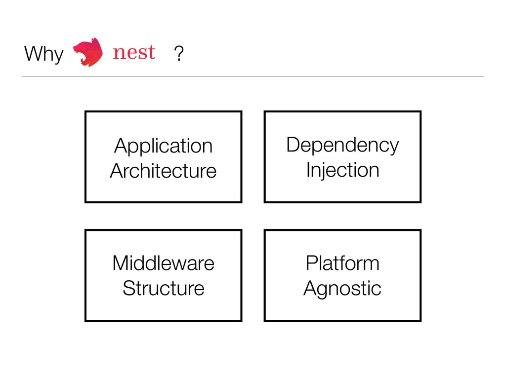 Why ? Application Architecture Dependency Injec...