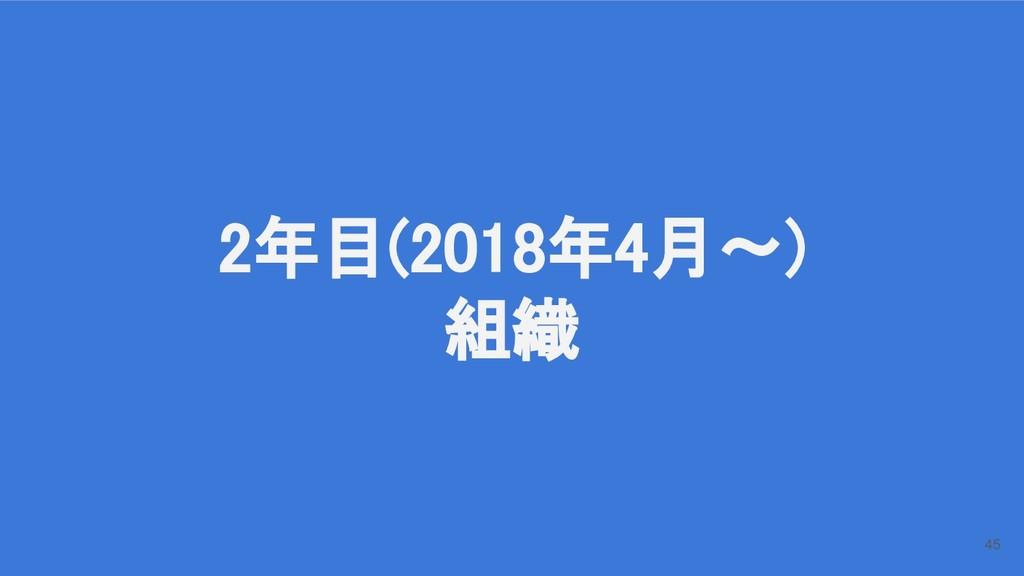 2年目(2018年4月〜) 組織 45