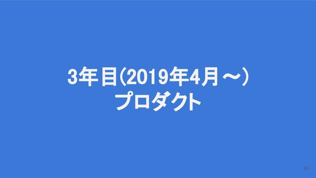 3年目(2019年4月〜) プロダクト 60
