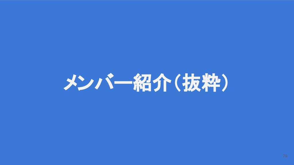 メンバー紹介(抜粋) 79