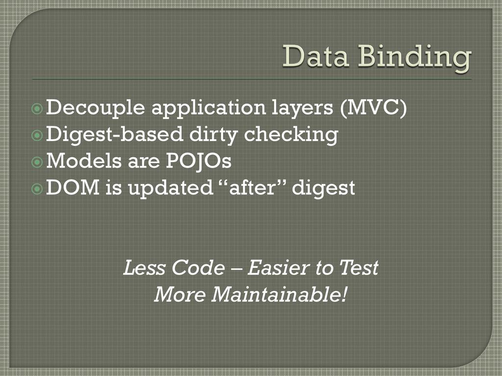 Decouple application layers (MVC) Digest-base...
