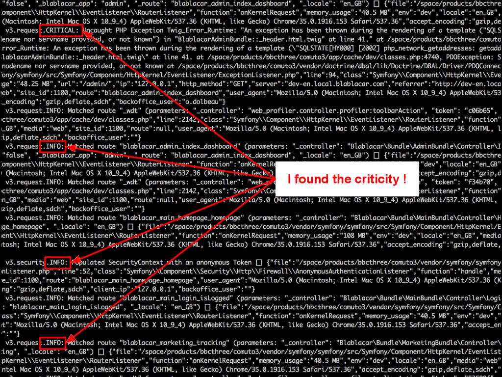 I found the criticity !