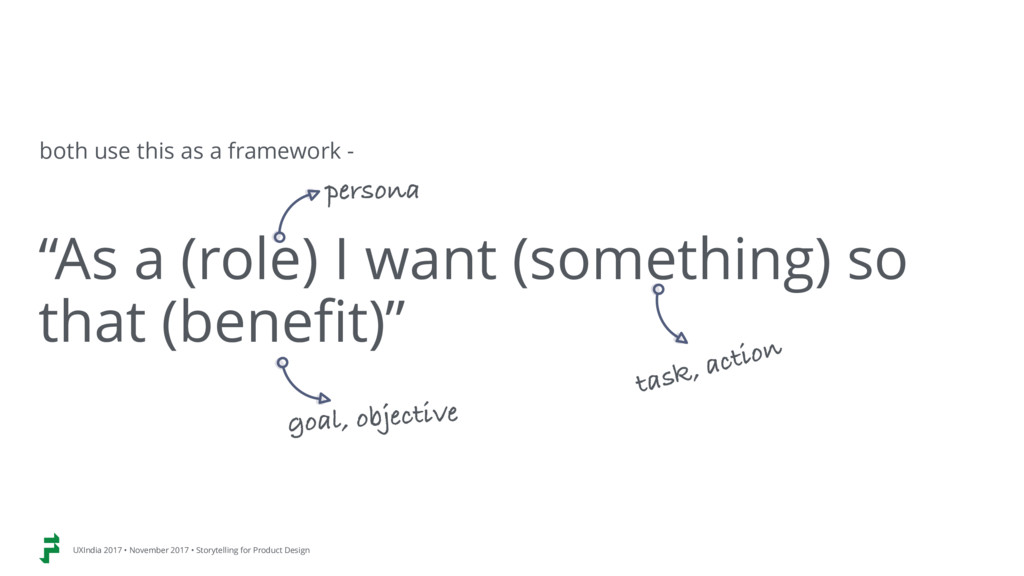"""""""As a (role) I want (something) so that (benefi..."""
