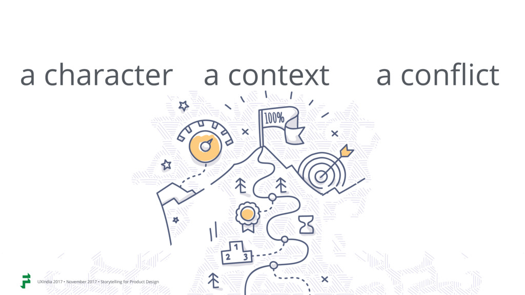 a character a context a conflict UXIndia 2017 •...
