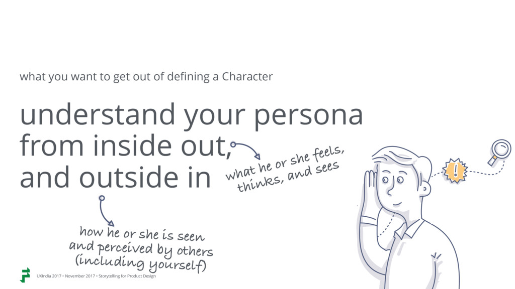 understand your persona from inside out,  and...