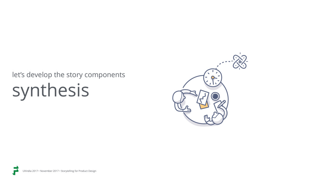 synthesis let's develop the story components UX...